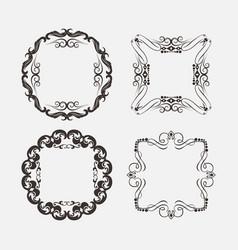 set vintage decorations elements vector image