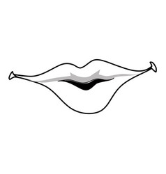 Sexy women lips vector