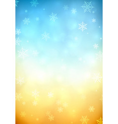 snowy blurred background vector image