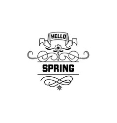 Spring sale badge design sticker stamp logo - vector