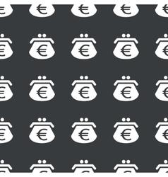 Straight black euro purse pattern vector