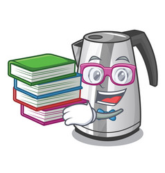 student with book mascot cartoon household kitchen vector image