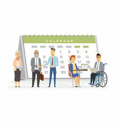 Teamwork for business metaphor - modern cartoon vector