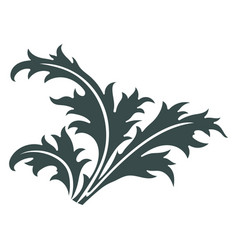thistle hand drawn thistle leaves scottish vector image