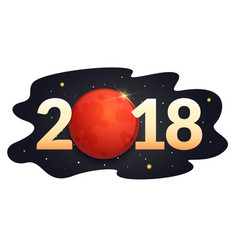 Total lunar eclipse blood moon vector