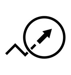 Trend or growth sign the black color icon vector