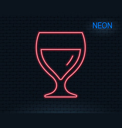 wine glass line icon alcohol drink sign vector image