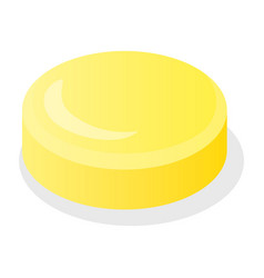 yellow candy jelly icon isometric style vector image