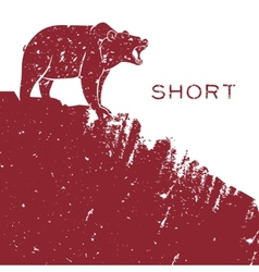 Bear short selling vector image vector image
