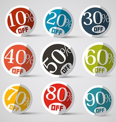 Discount Circle Labels vector image