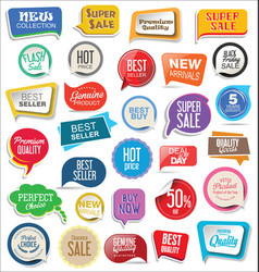 sale stickers modern design collection 1 vector image