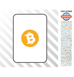 bitcoin card with bonus vector image vector image
