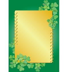 golden clover frame vector image vector image
