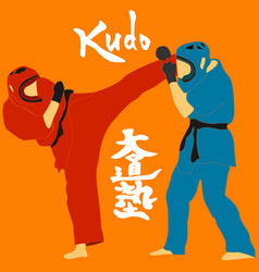 kudo martial arts fighters vector image