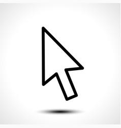 mouse cursor sign icon vector image