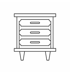 Nightstand icon in outline style vector image