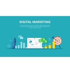 Online Marketing Internet vector image