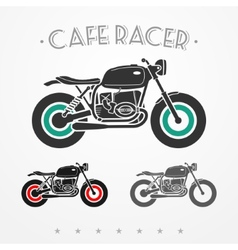 Retro motorcycle vector image vector image