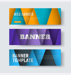 template of horizontal web banners in the style vector image