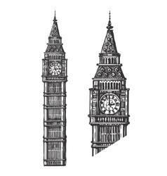 Big Ben logo design template England or vector image vector image
