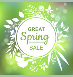 great spring sale banner vector image