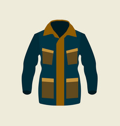 green jacket winter icon on yellow background vector image vector image