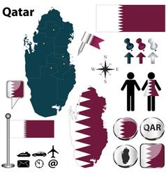 Map of Qatar vector image vector image