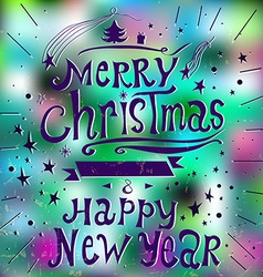 Merry Christmas and New Year 2015 Greeting Card in vector image vector image