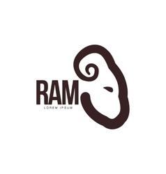 Ram sheep lamb head profile graphic logo vector image vector image