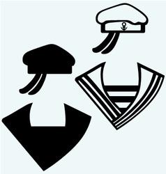 Sailor cap vector image vector image