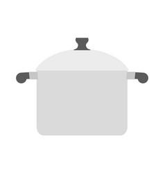 saucepan on white background kitchen utensils vector image
