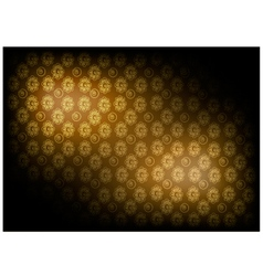 Brown Vintage Wallpaper with Flower Pattern vector image
