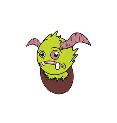 design character monster vector image vector image
