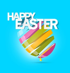 Easter Colorful Egg on Blue Background vector image vector image