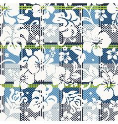 Hibiscus flowers wallpaper vector image vector image
