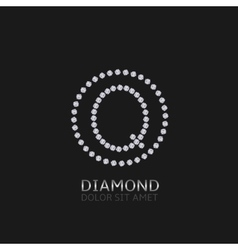Q letter with diamonds vector image vector image