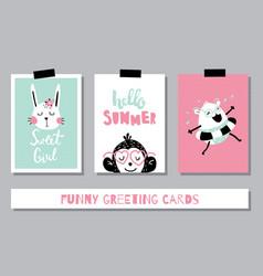 summer card trio vector image vector image