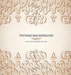 Vintage ornamental invitation card vector image vector image