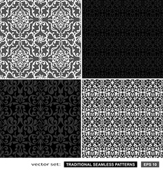 Vintage ornamental patterns set vector image vector image