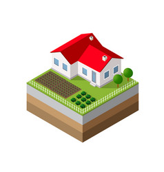 3d icon ecological natural vector image