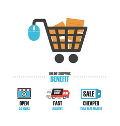 489online shop benefit vector