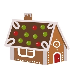 A gingerbread house vector