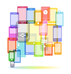 Abstract color speech cloud of modern mobile phone vector image