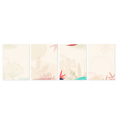 abstract floral art cover background hand draw vector image