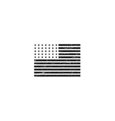American flag rustic grunge effect vector