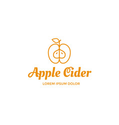 apple cider logo vector image