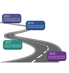 asfalt road with color time line company vector image