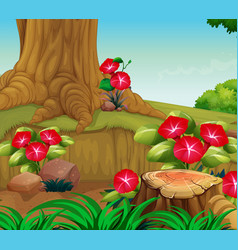 background scene with nature theme vector image