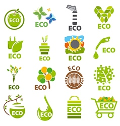 biggest collection of logos eco vector image