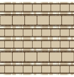 Brown retro background with film strips vector image